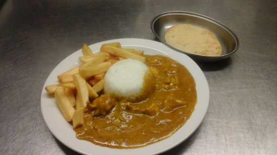 Pembrey, UK: Homemade curry of the day