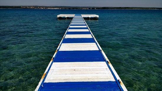 Brijuni National Park, Croacia: Beach near, 1km away from the boat harbour