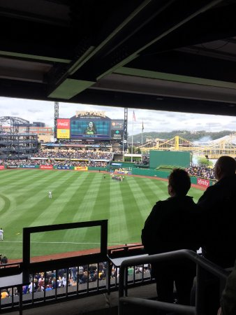 PNC Park: CHECKING THE VIEW FROM THE SUITE