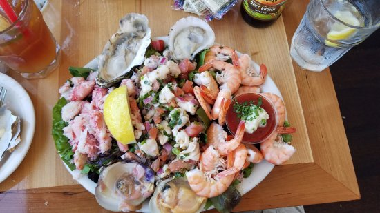 Brophy Bros.: Cold combo with crab, ceviche, oysters, clams and peel & eat shrimp