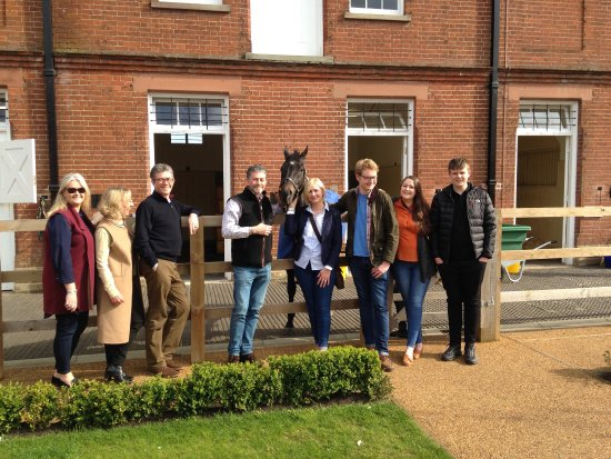 Newmarket, UK: Meeting the famous retired racehorse Kingsgate Native who won the Nunthorpe at York and the Gold