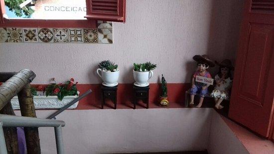 Conceicao De Macabu, RJ: decoração com artesanato.