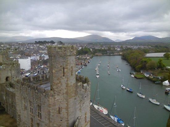 Caernarfon, UK: View from the top