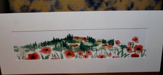 Junko Mukai Original Watercolor