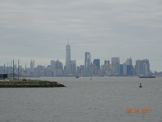 Bayonne, NJ: View of NYC skyline from monument