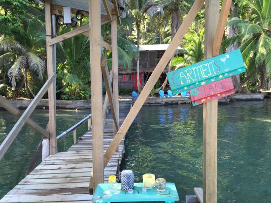 Isla Bastimentos, Panama: Carmen's dock