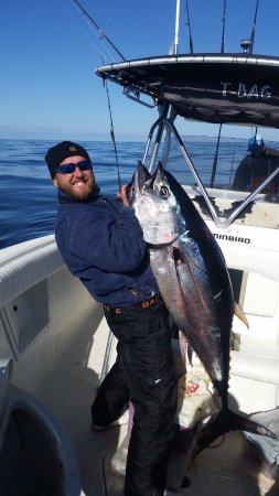 Portsmouth, RI: Chad with a nice tuna