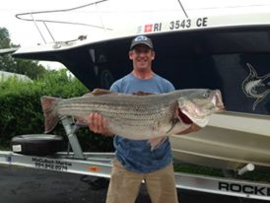Portsmouth, RI: Al with his first 40 lb bass