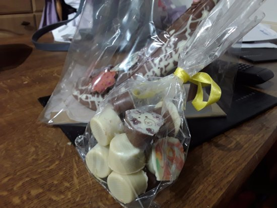 Retford, UK: my shoe and 12 assorted flavour chocolate truffles