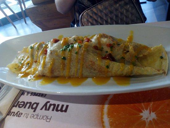 Alcobendas, España: crepe pollo thai