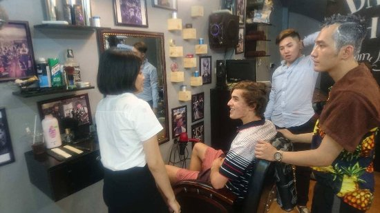Golden Art Hotel: Bella translating for hair cut
