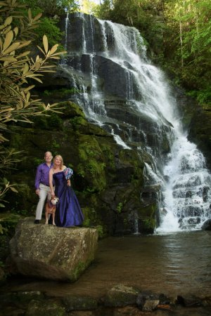 Rosman, NC: Waterfall wedding