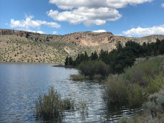 Prineville Reservoir State Park: The rocks above