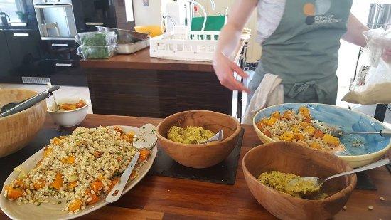 The Cliffs of Moher Retreat: Vegetarian buffet
