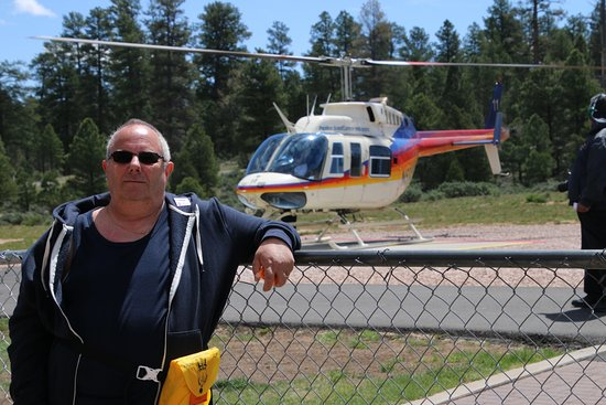 Papillon Grand Canyon Helicopters: Me waiting to board