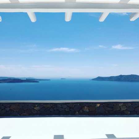 Aenaon Villas: The view from the infinity pool...