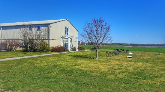 Chatham Vineyards: Outside seating area (March 2017)