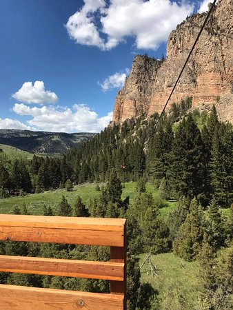 Gallatin Gateway, MT: Views from the Zip lining course