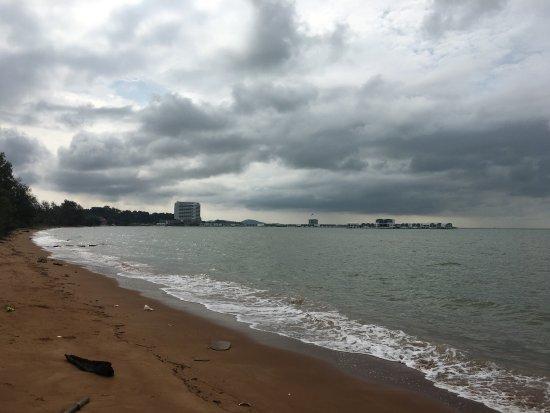 Port Dickson, Malasia: Blue lagoon beach in t
