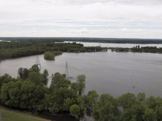 Hartford, IL: View from the top- significant flooding.