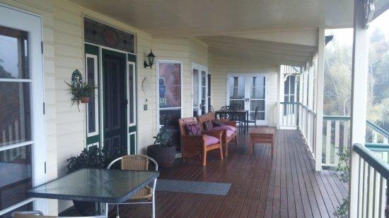 Roseville House: Part of front deck