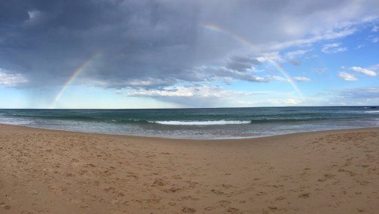 Royal National Park, Australia: double rainbow over the sea
