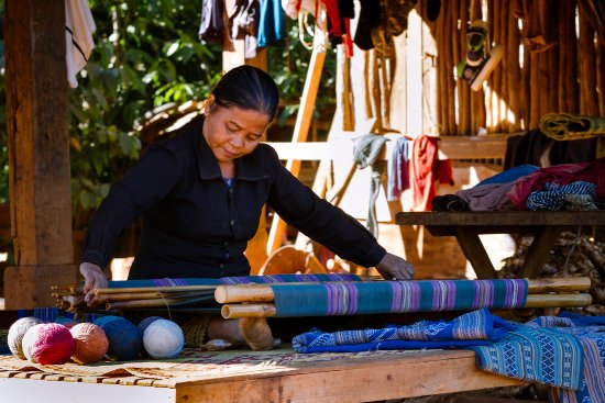 Salavan Province, Laos: Weaving unique Katou textiles with backstrap loom