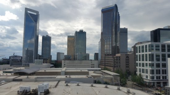 Hilton Garden Inn Charlotte Uptown: View from the 12th floor with Nascar Hall of Fame in the foreground