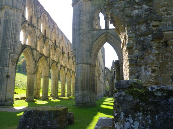 Helmsley, UK: the striking ruins of Rievaulx Abbey