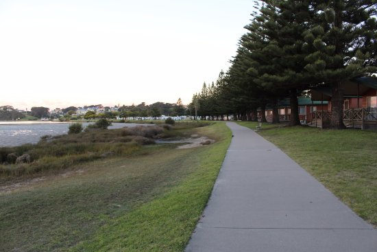 Narooma, أستراليا: Great walking path into town from the park