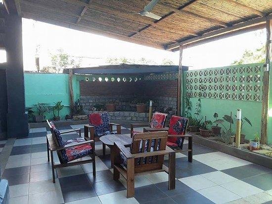 Belo Tsiribihina, Madagascar: Une terrasse pour se reposer