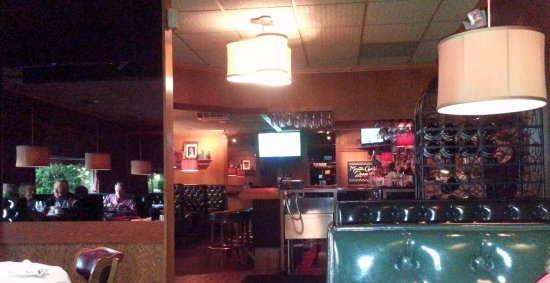 Lake Zurich, IL: the bar area at Fritzl's
