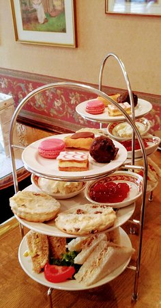 The Conservatory: Afternoon tea with tasty sandwiches, fresh scone with cream and jam and quality macaroons