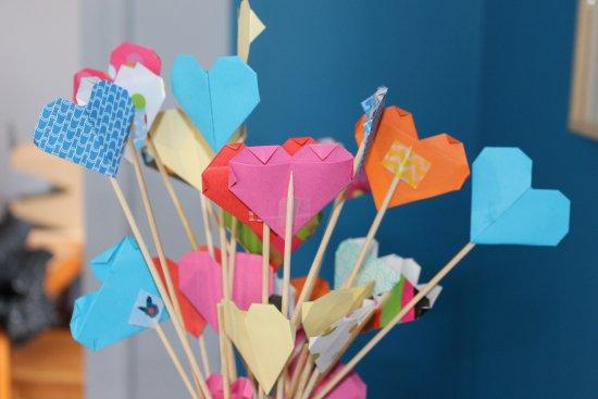Antony, France: Bouquets de coeurs