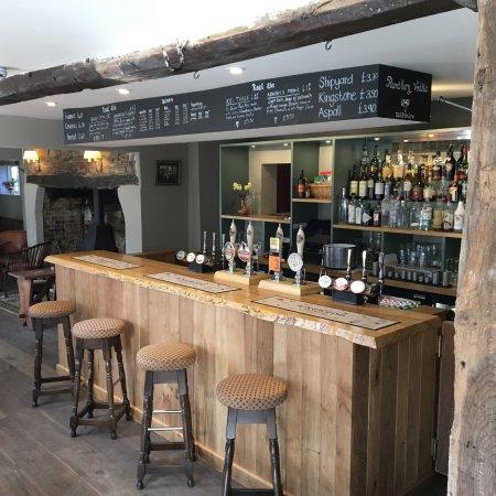 The Greyhound Inn: The bar