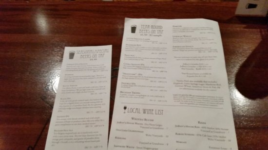 Lititz, PA: Beer list
