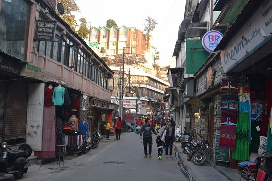 The crowded Mall Road of Mussoorie - Picture of The Tavern ...