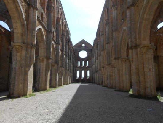 Chiusdino, Italia: Vue intérieure de l'Abbaye de San Galgamo