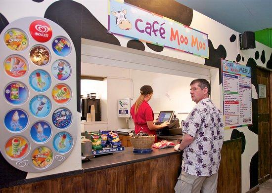 Wisborough Green, UK: Fishers Adventure Farm Park - Cafe Moo Moo