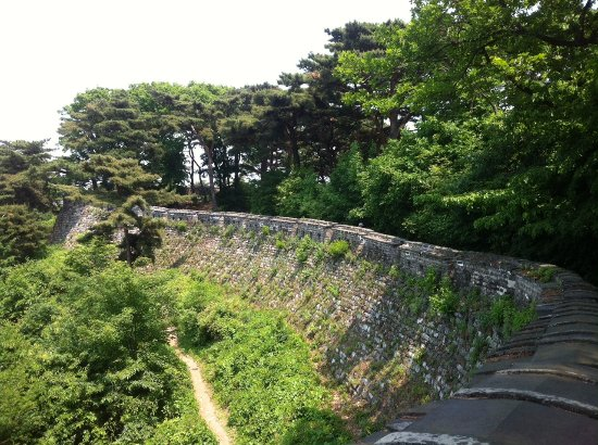 Gwangju, South Korea: side walk path