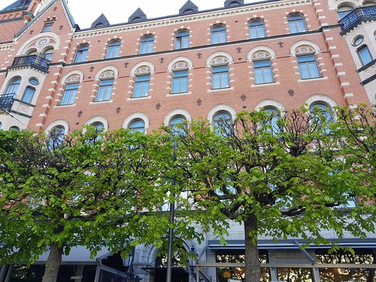 Nobis Hotel: This is taken from a bench in front of the hotel.