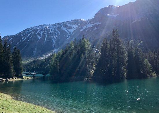 Obernberg am Brenner, Österreich: Insel mit Kapelle im Obernberger See