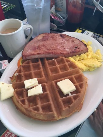 Crazy Otto's Empire Diner: Delicious! Freight Train and Waffle Meat and Eggs.
