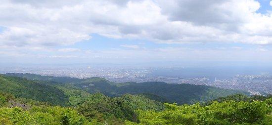 Kobe, Japan: 見晴らしデッキからの眺望