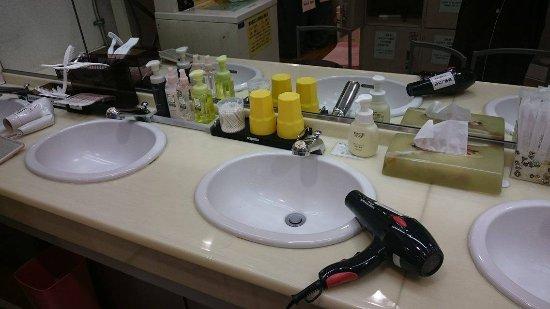 Tokyo Kiba Hotel: The bathroom