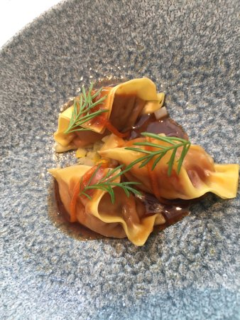 Restaurant Tim Raue: We tried them all! Delicious  Do not miss out on some cool Chinese art in the bathrooms !