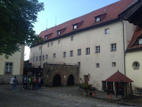 Burg Hohnstein: Blick auf Hostel