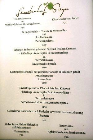 Bendorf, Γερμανία: Speisekarte (Auszug Nr. 2)