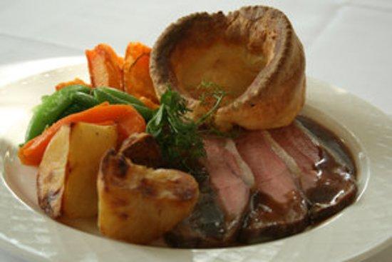 Langho, UK: Sunday roast with home made yorkshire pudding