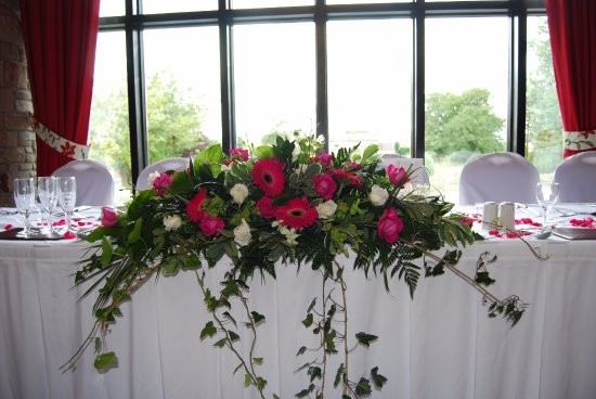 Langho, UK: Top table in the Abbey Suite